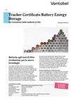 Tracker Certificate Battery Energy Storage